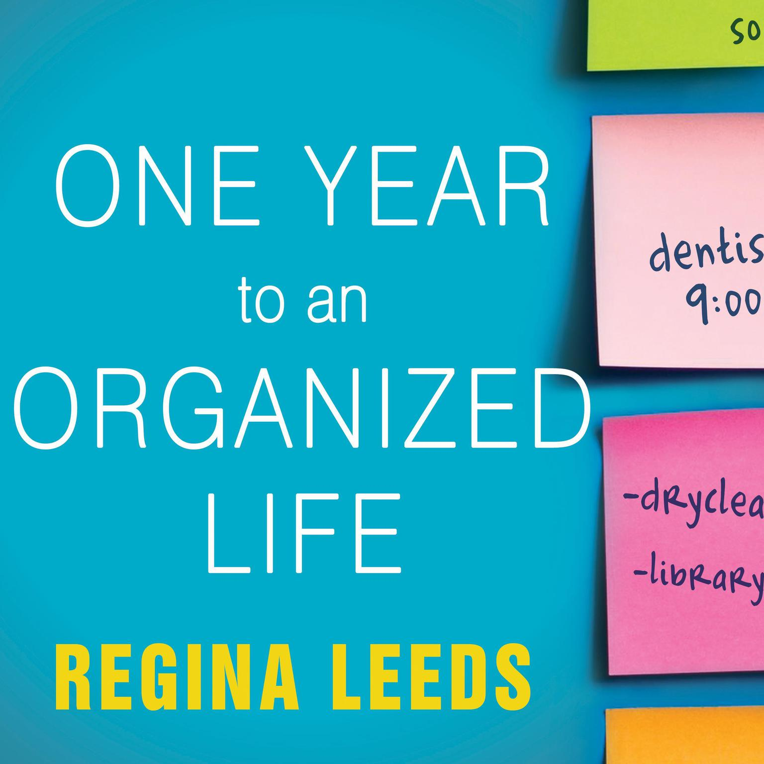 Printable One Year to an Organized Life: From Your Closets to Your Finances, the Week-by-Week Guide to Getting Completely Organized for Good Audiobook Cover Art