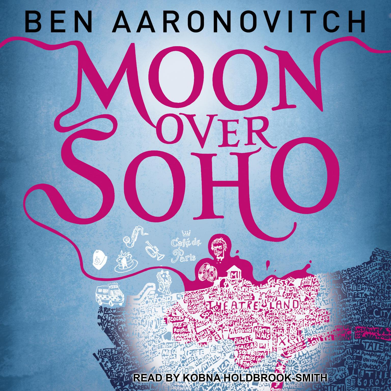 Printable Moon over Soho Audiobook Cover Art