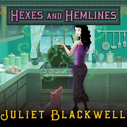 Printable Hexes and Hemlines Audiobook Cover Art