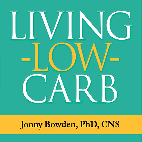 Printable Living Low Carb: Controlled-Carbohydrate Eating for Long-Term Weight Loss Audiobook Cover Art