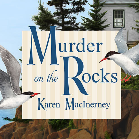 Printable Murder on the Rocks Audiobook Cover Art