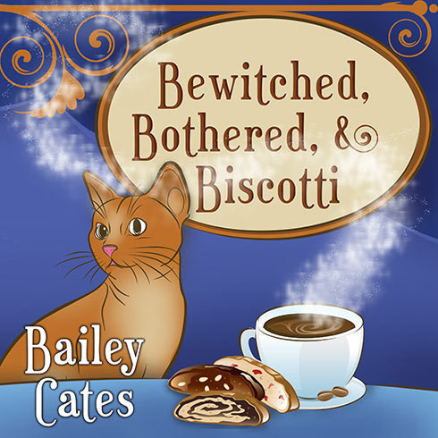 Printable Bewitched, Bothered, and Biscotti Audiobook Cover Art