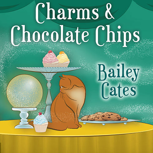 Printable Charms and Chocolate Chips Audiobook Cover Art