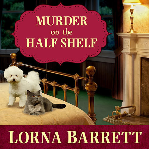 Printable Murder on the Half Shelf Audiobook Cover Art