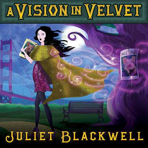 Printable A Vision in Velvet: A Witchcraft Mystery Audiobook Cover Art