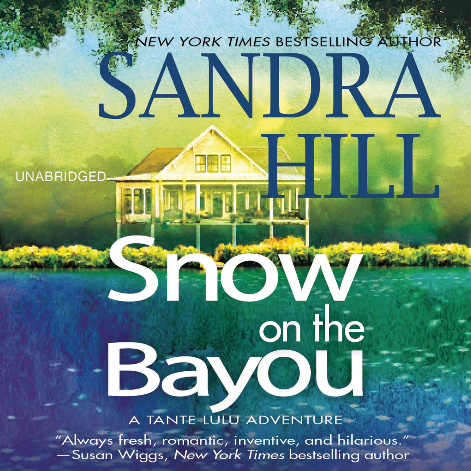 Printable Snow on the Bayou: A Tante Lulu Adventure Audiobook Cover Art