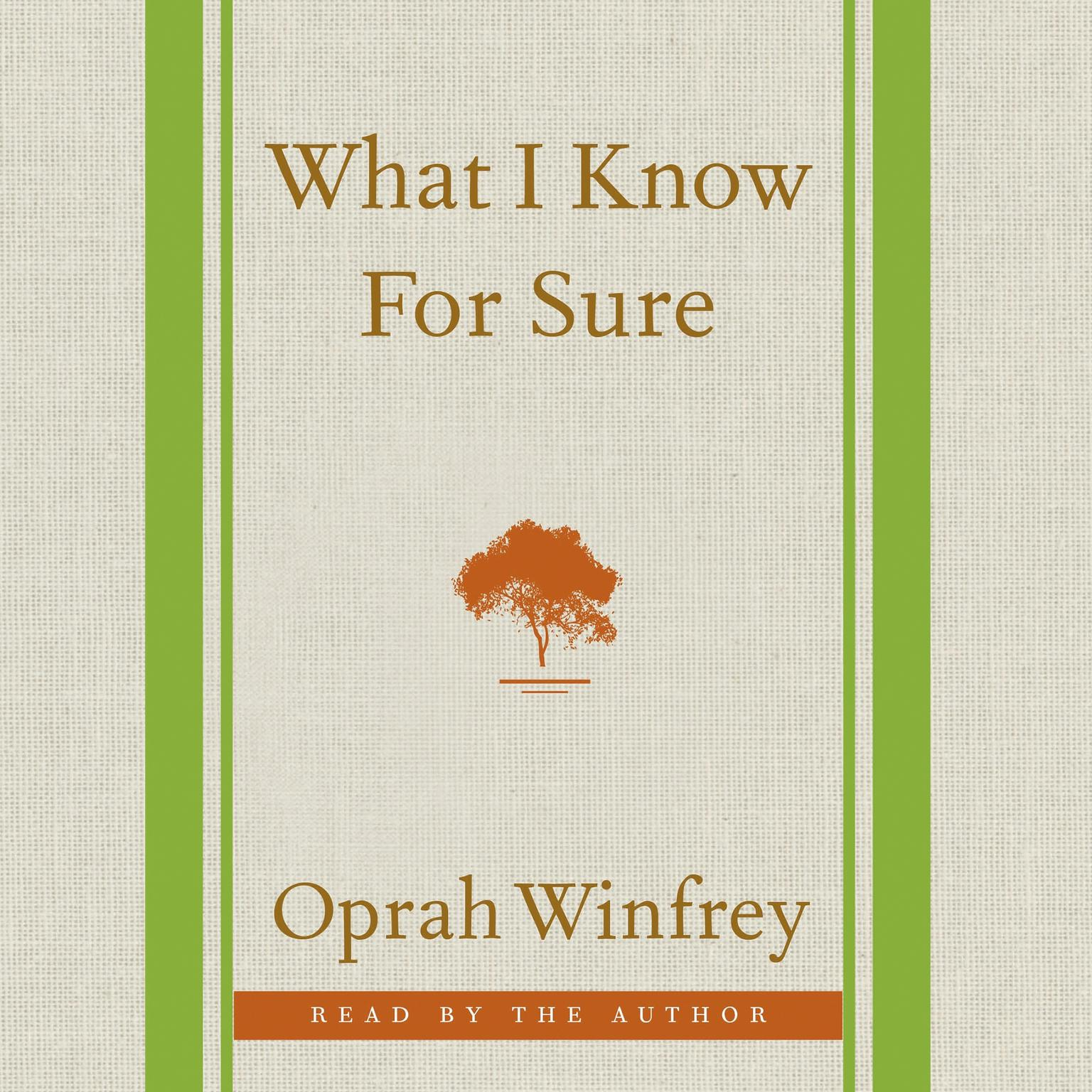 Printable What I Know For Sure Audiobook Cover Art