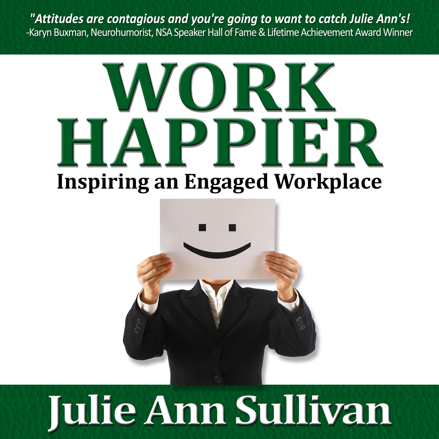 Printable Work Happier: Inspiring an Engaged Workplace Audiobook Cover Art