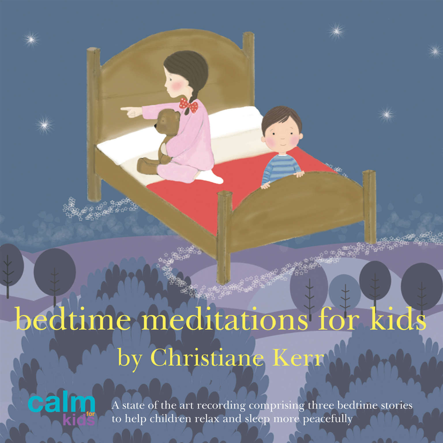 Printable Bedtime Meditations for Kids Audiobook Cover Art
