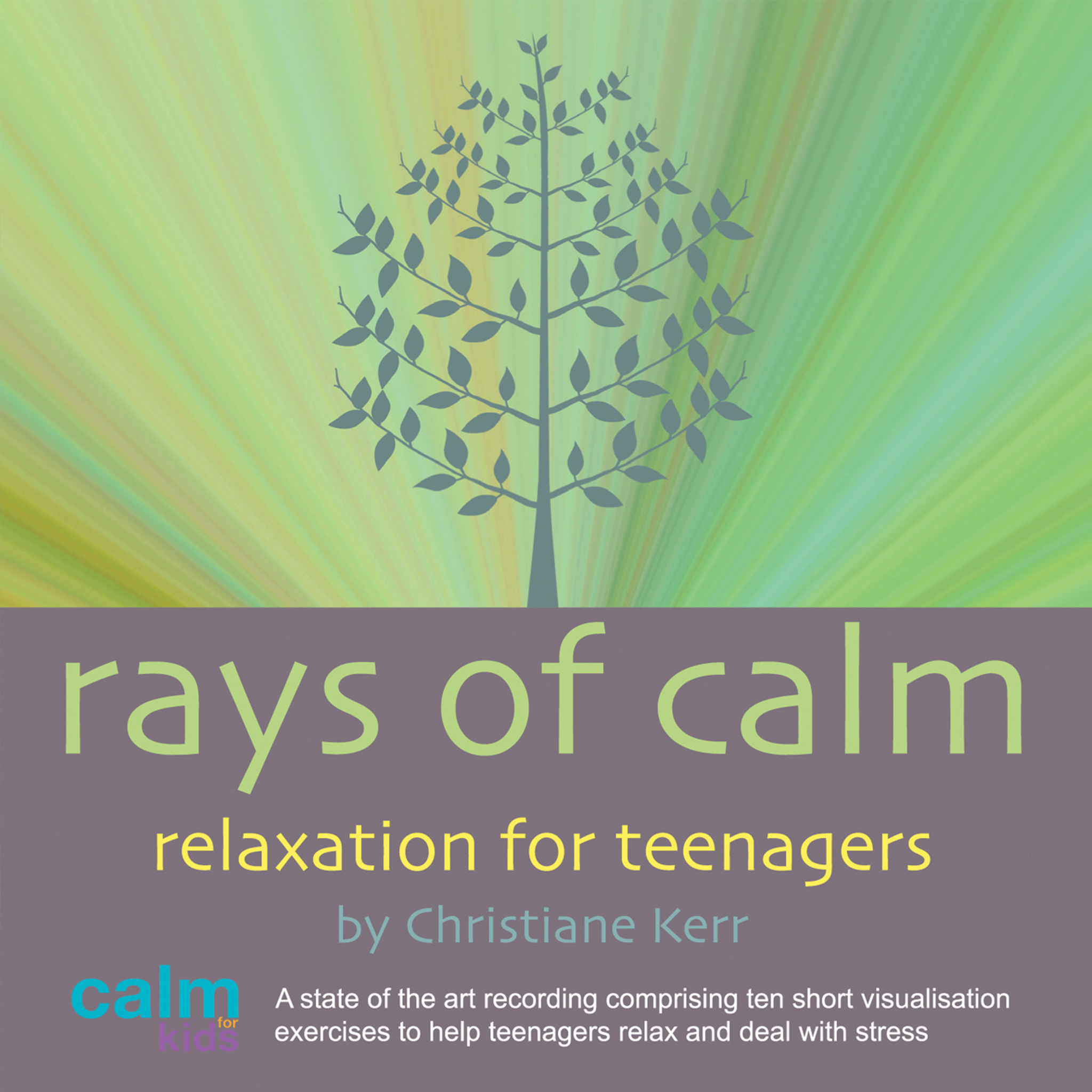 Printable Rays Of Calm: Self-Help Audiobook Cover Art