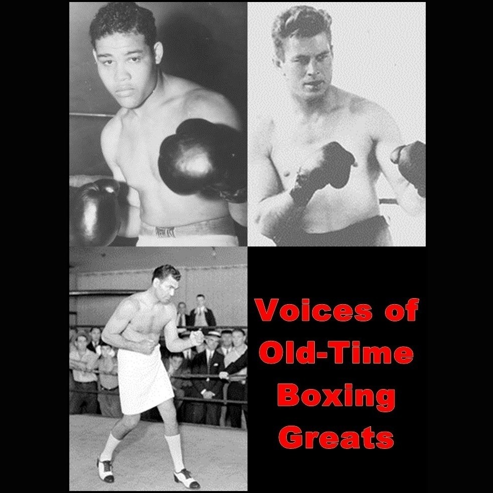 Printable Voices of Old-Time Boxing Greats Audiobook Cover Art