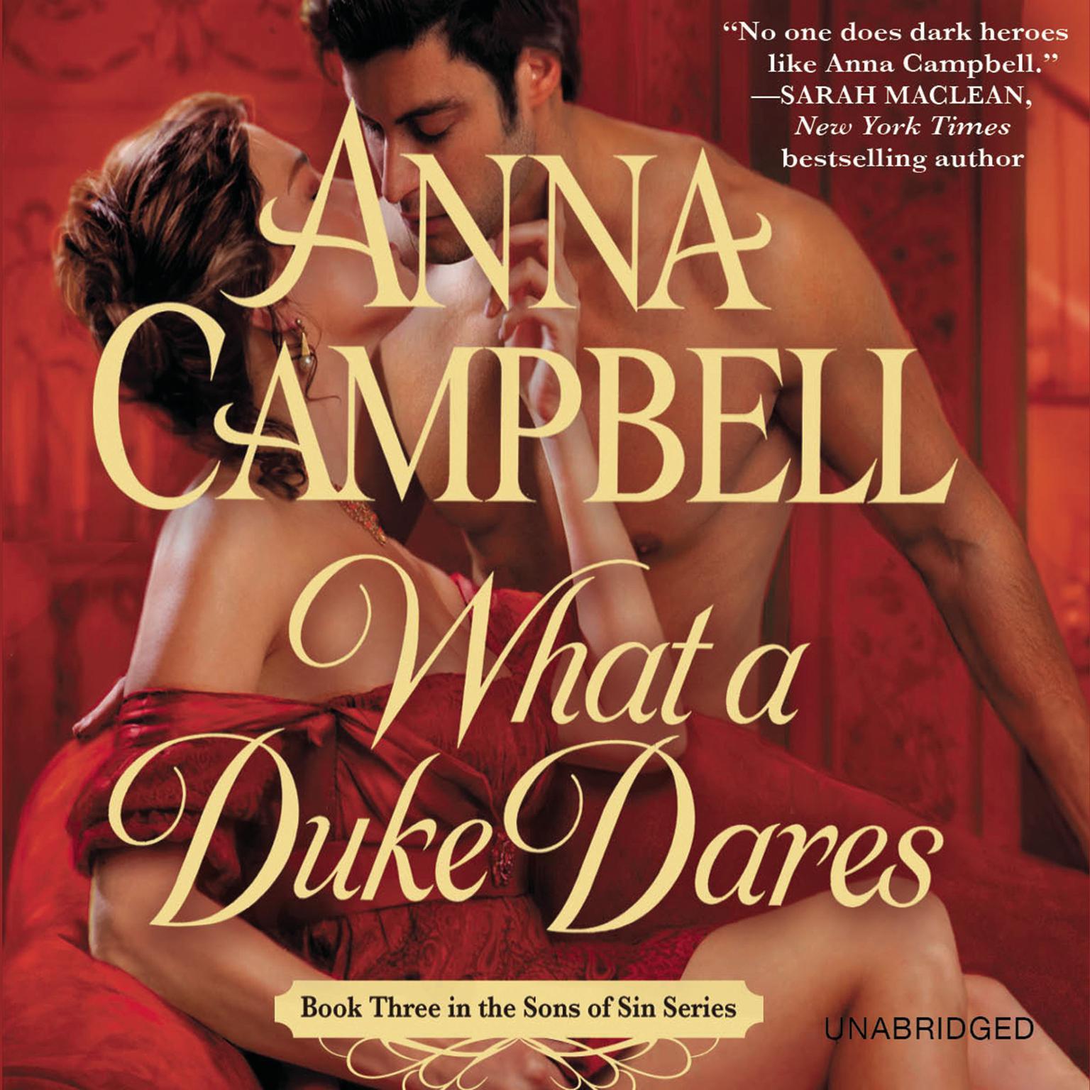 Printable What a Duke Dares Audiobook Cover Art