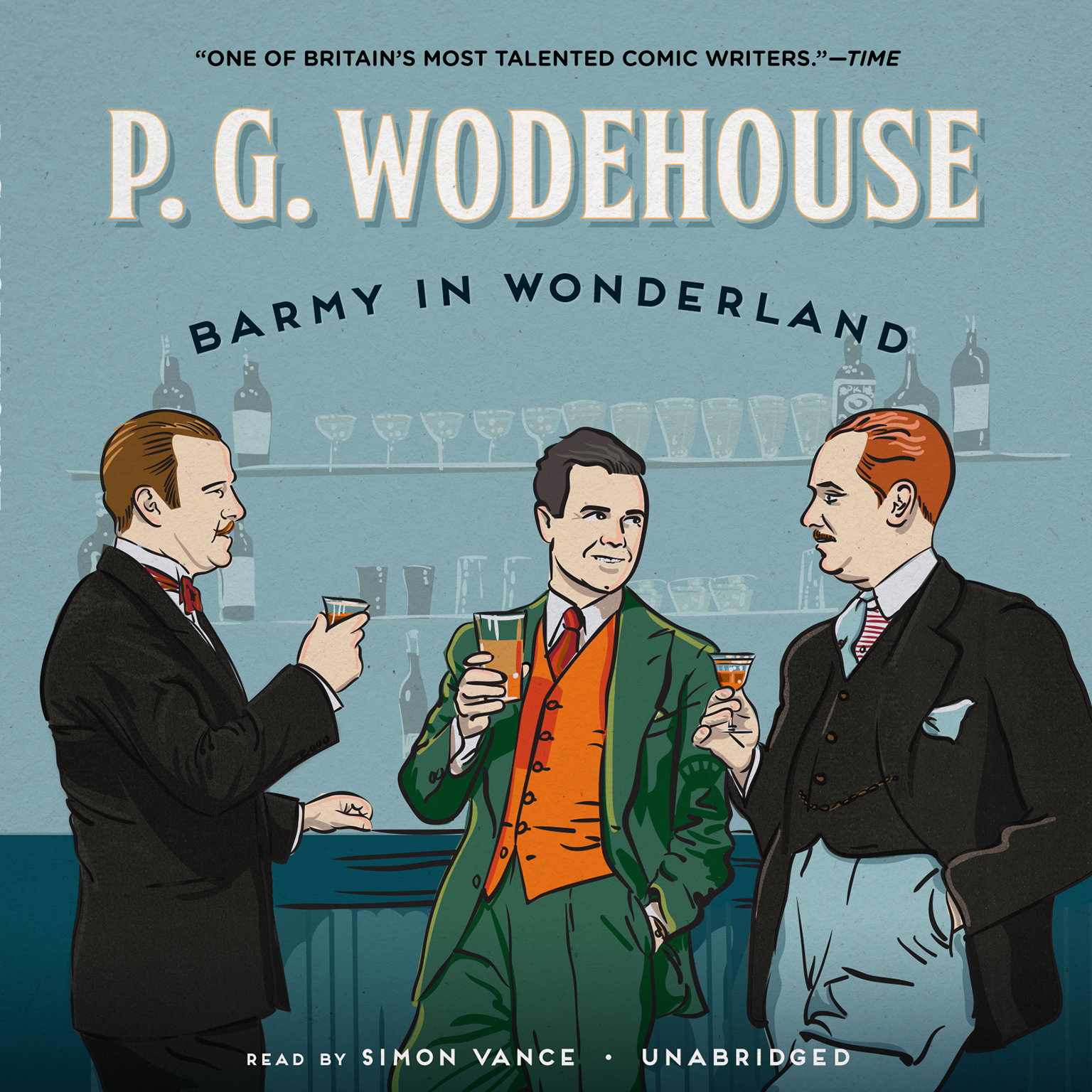 Printable Barmy in Wonderland Audiobook Cover Art