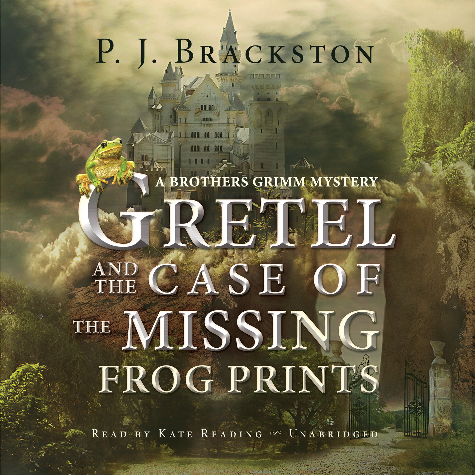 Printable Gretel and the Case of the Missing Frog Prints: A Brothers Grimm Mystery Audiobook Cover Art