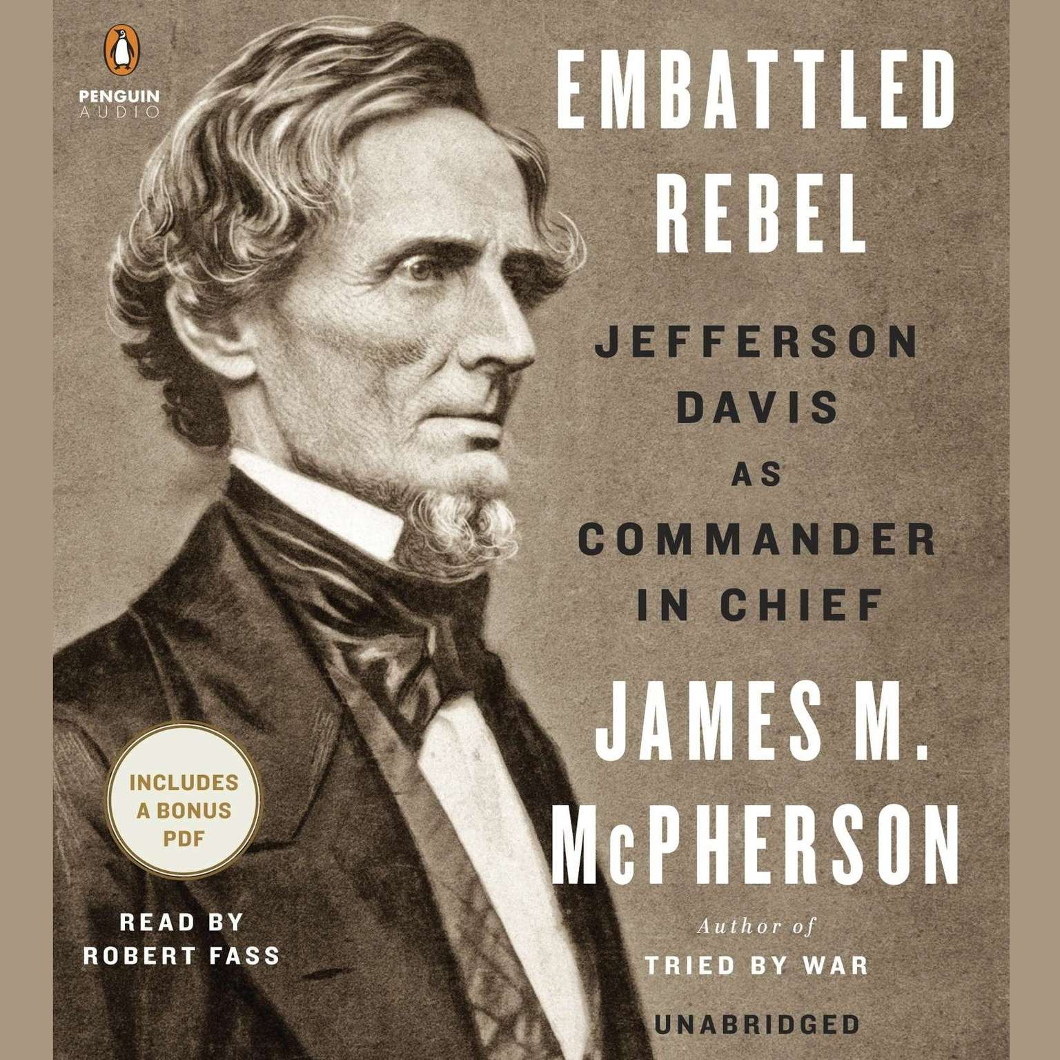 Printable Embattled Rebel: Jefferson Davis as Commander in Chief Audiobook Cover Art