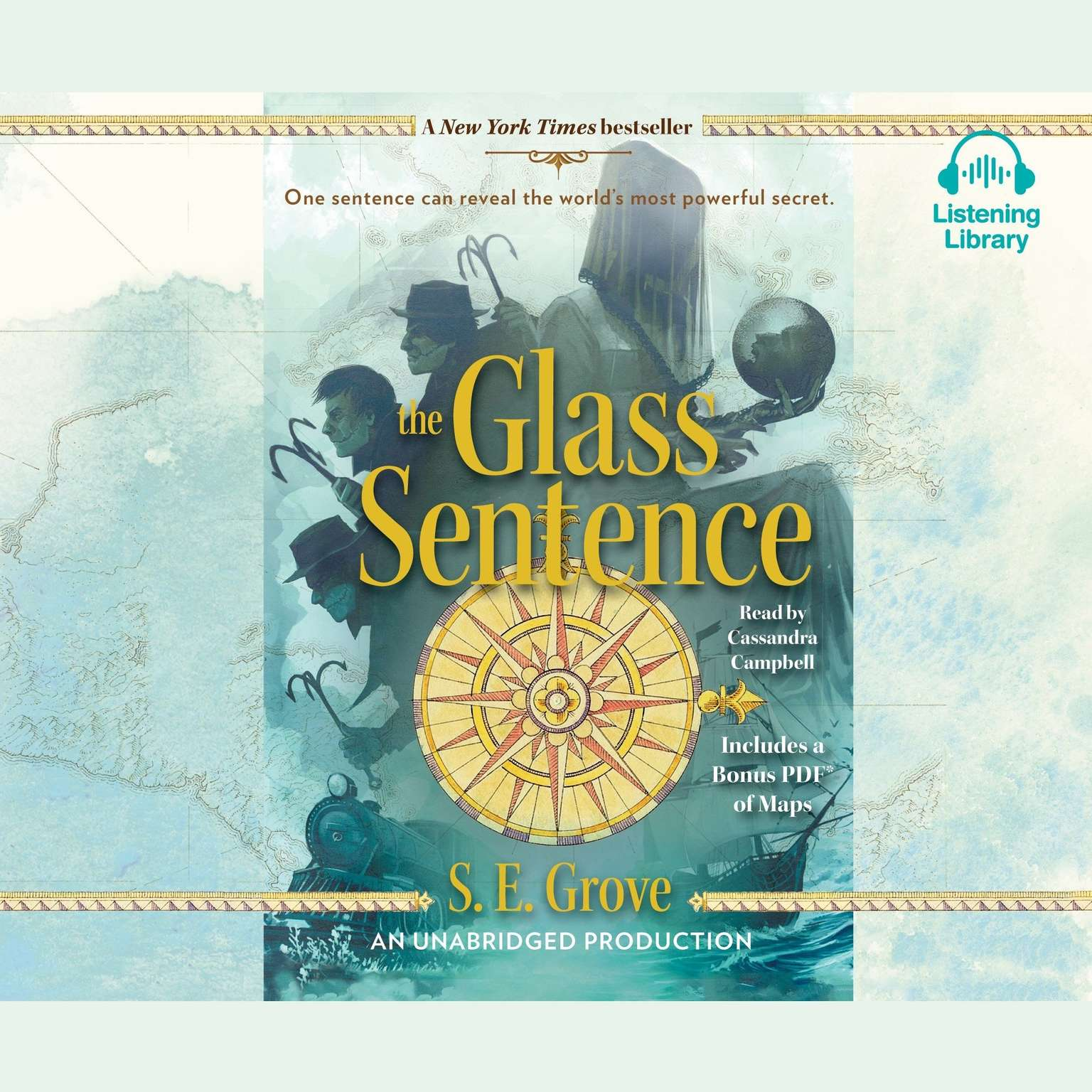 Printable The Glass Sentence Audiobook Cover Art