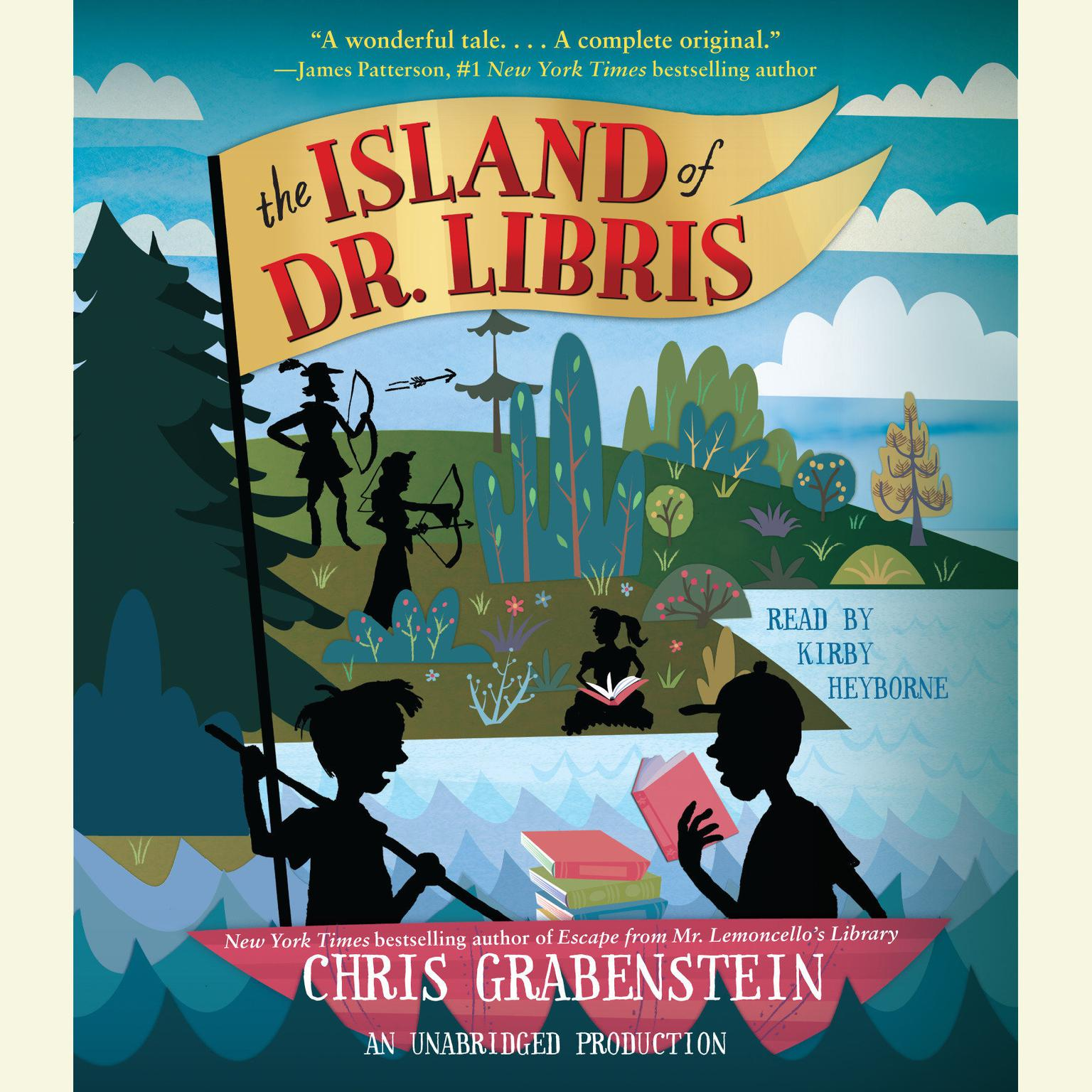 Printable The Island of Dr. Libris Audiobook Cover Art