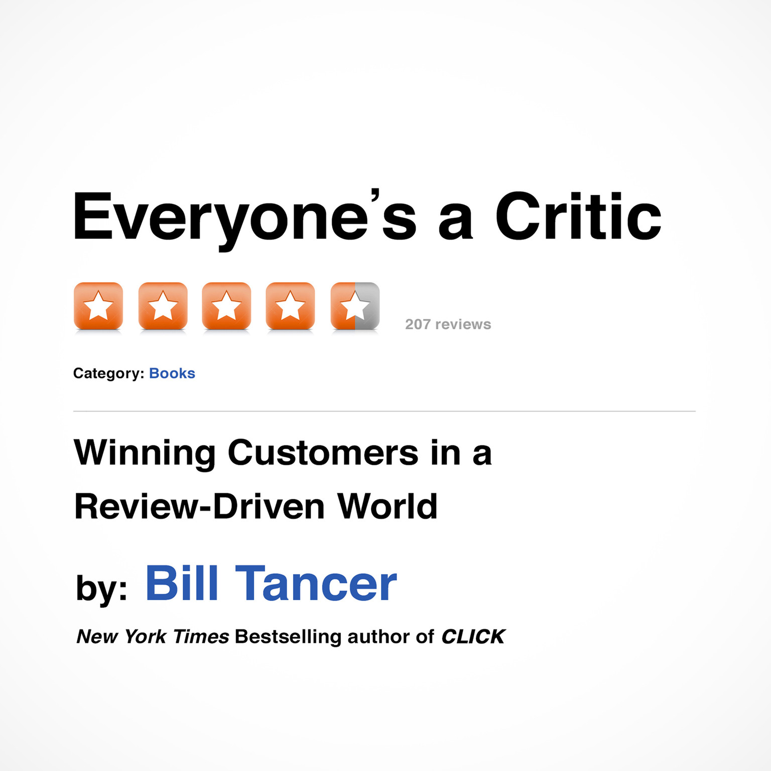 Printable Everyone's a Critic: Winning Customers in a Review-Driven World Audiobook Cover Art