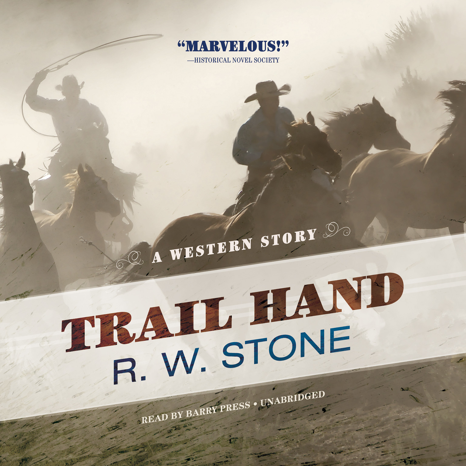 Printable Trail Hand: A Western Story Audiobook Cover Art