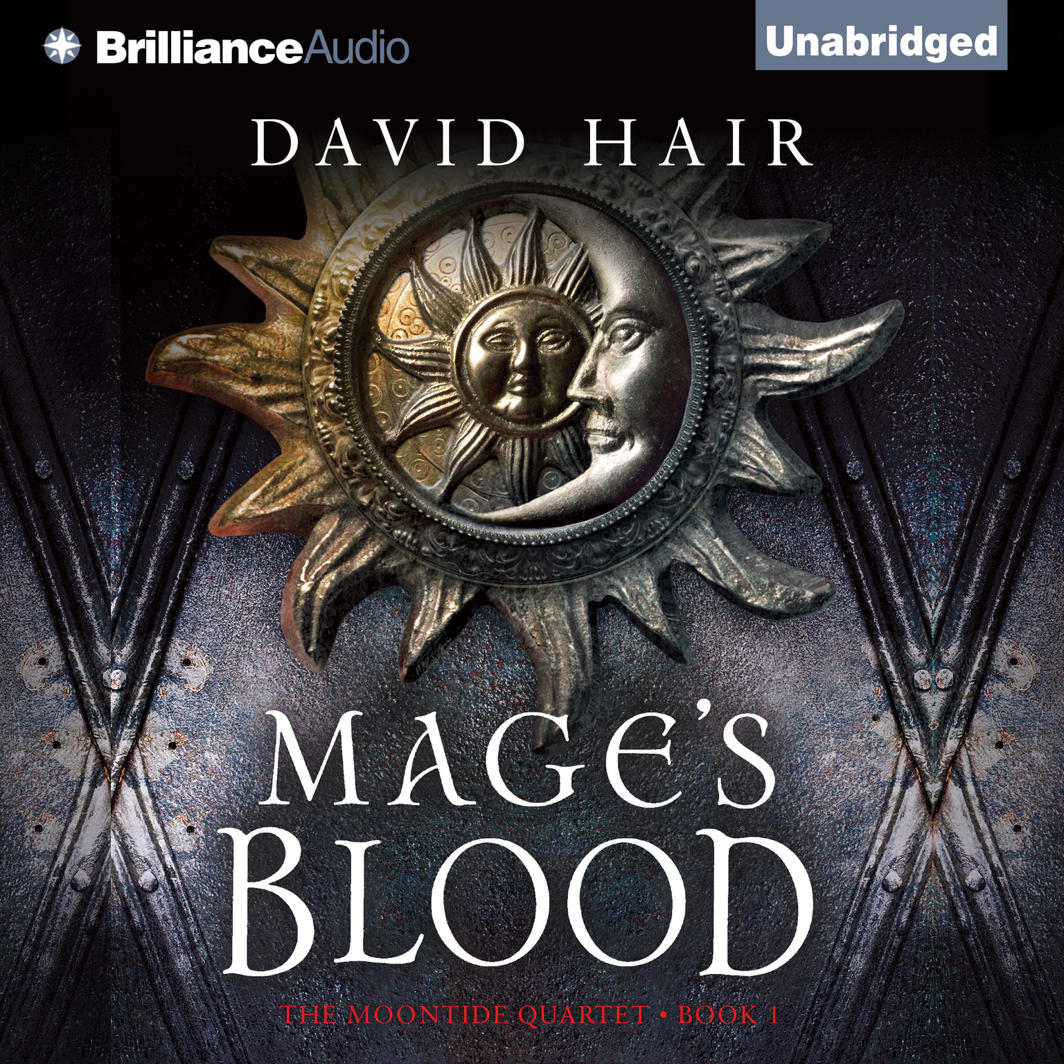 Printable Mage's Blood Audiobook Cover Art