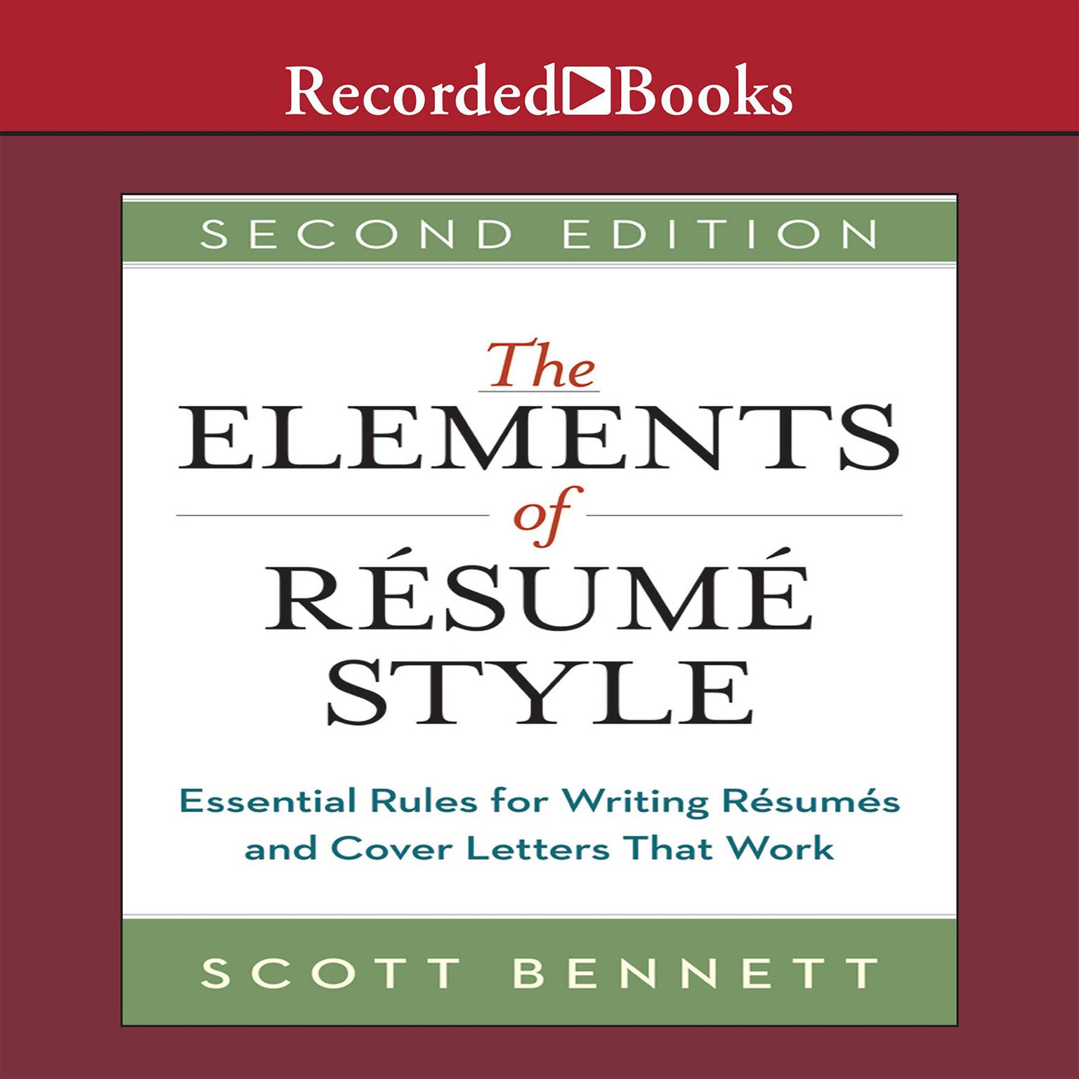 Printable The Elements of Resume Style: Essential Rules for Writing Resumes and Cover Letters That Work Audiobook Cover Art