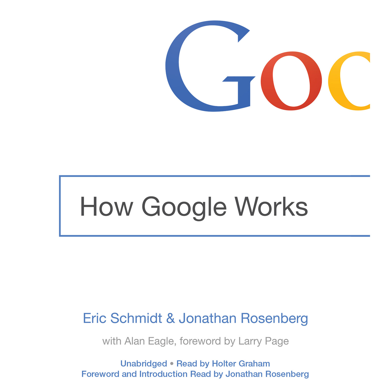 Printable How Google Works Audiobook Cover Art