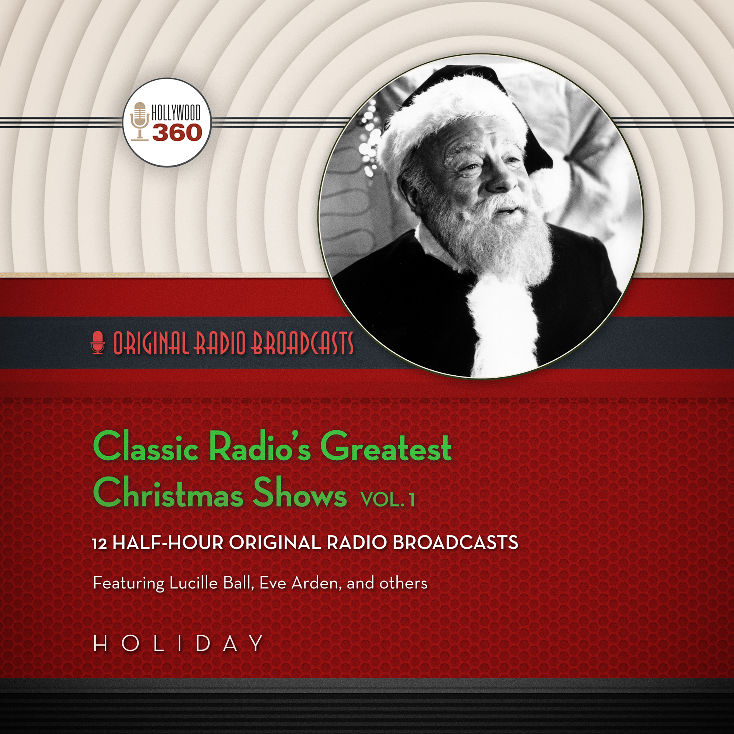 Printable Classic Radio's Greatest Christmas Shows, Vol. 1 Audiobook Cover Art