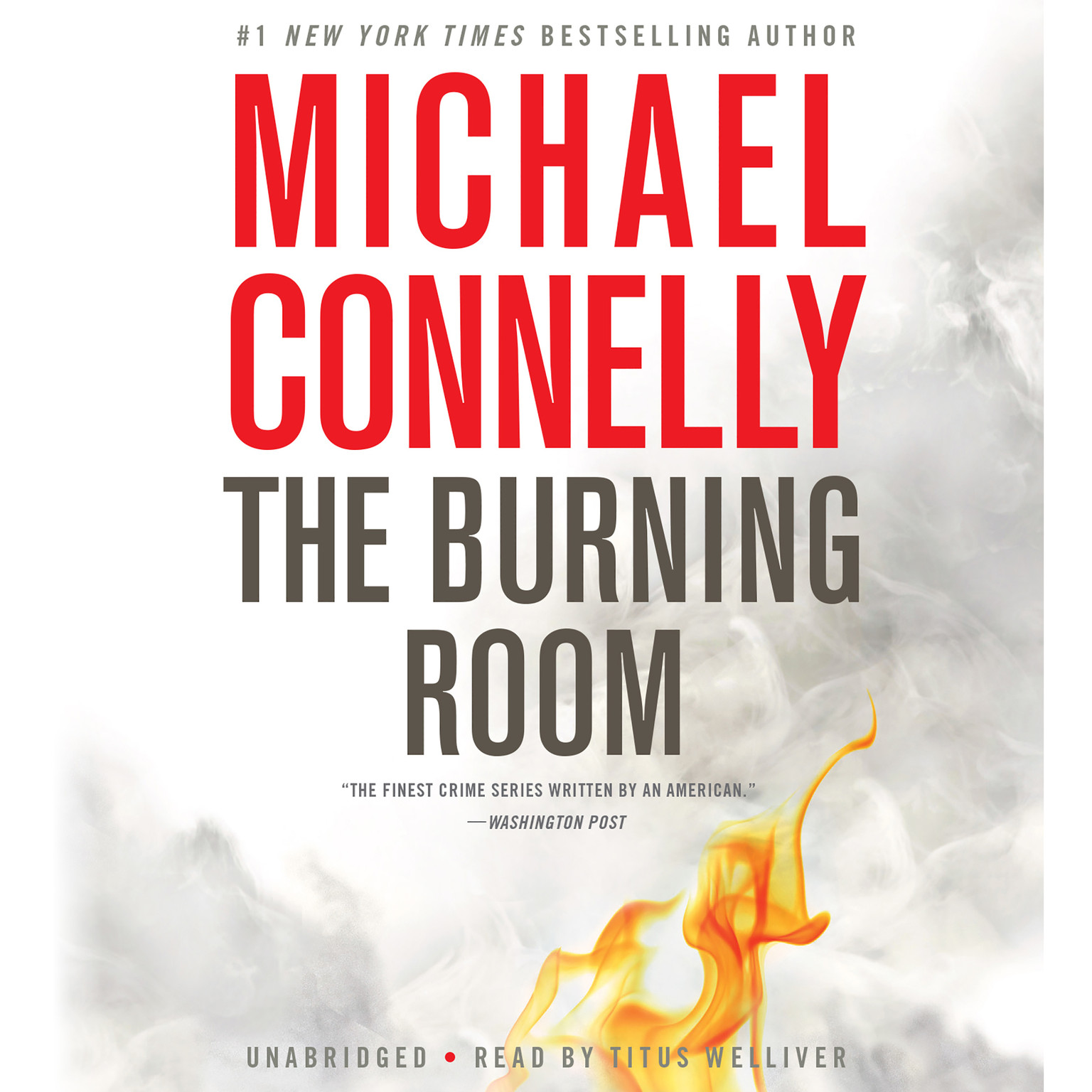 Printable The Burning Room Audiobook Cover Art