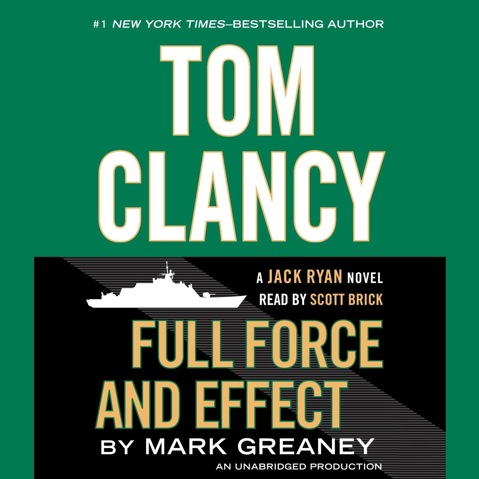 Printable Tom Clancy Full Force and Effect Audiobook Cover Art