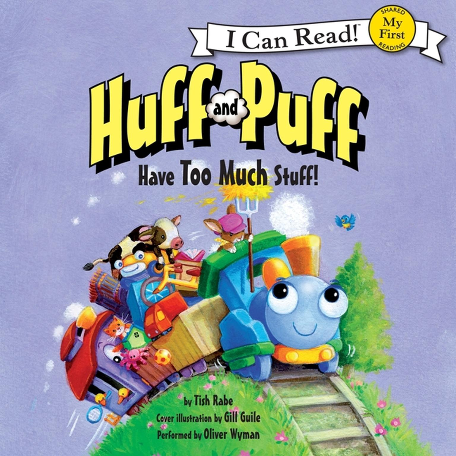 Printable Huff and Puff Have Too Much Stuff! Audiobook Cover Art