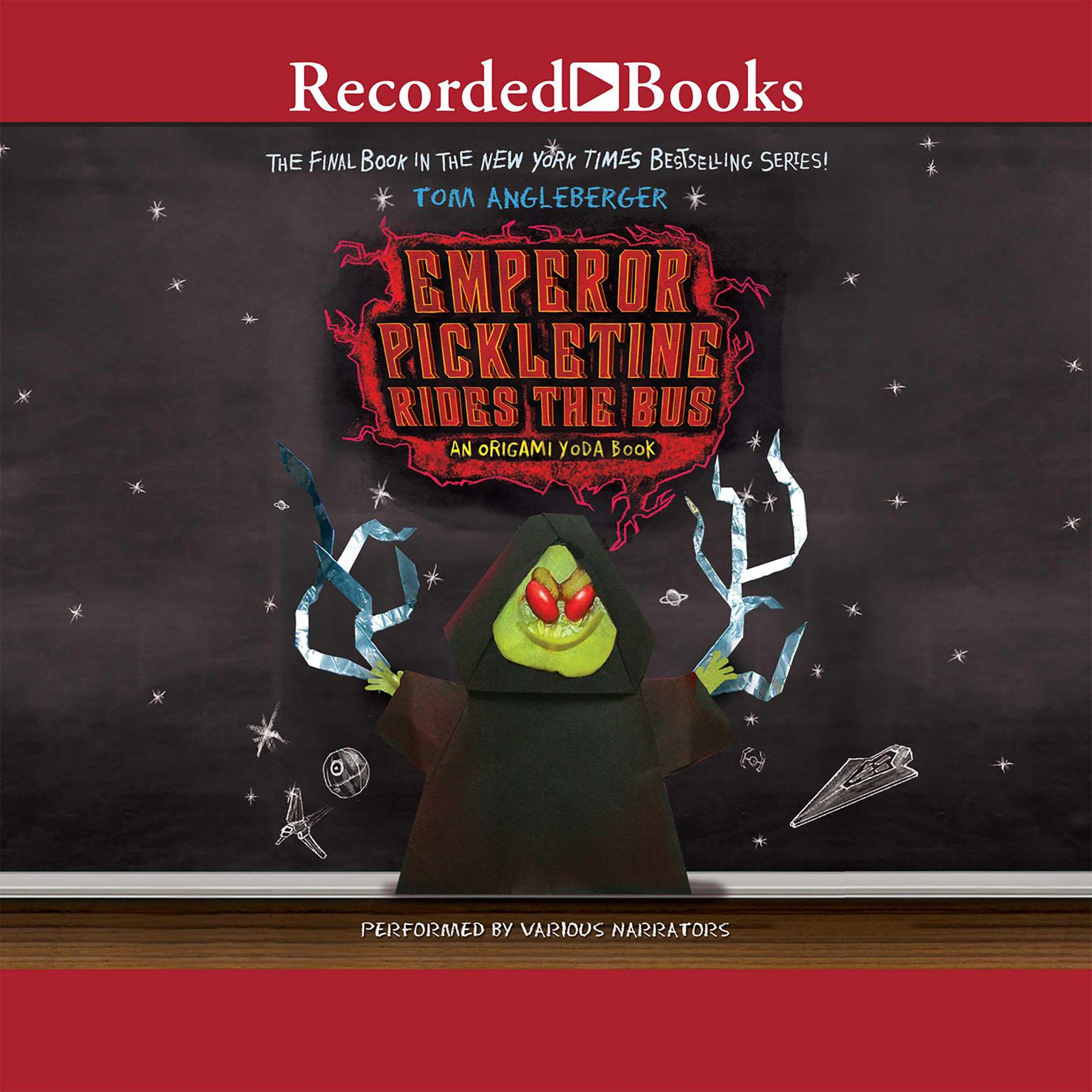 Printable Emperor Pickletine Rides the Bus: An Origami Yoda Book Audiobook Cover Art