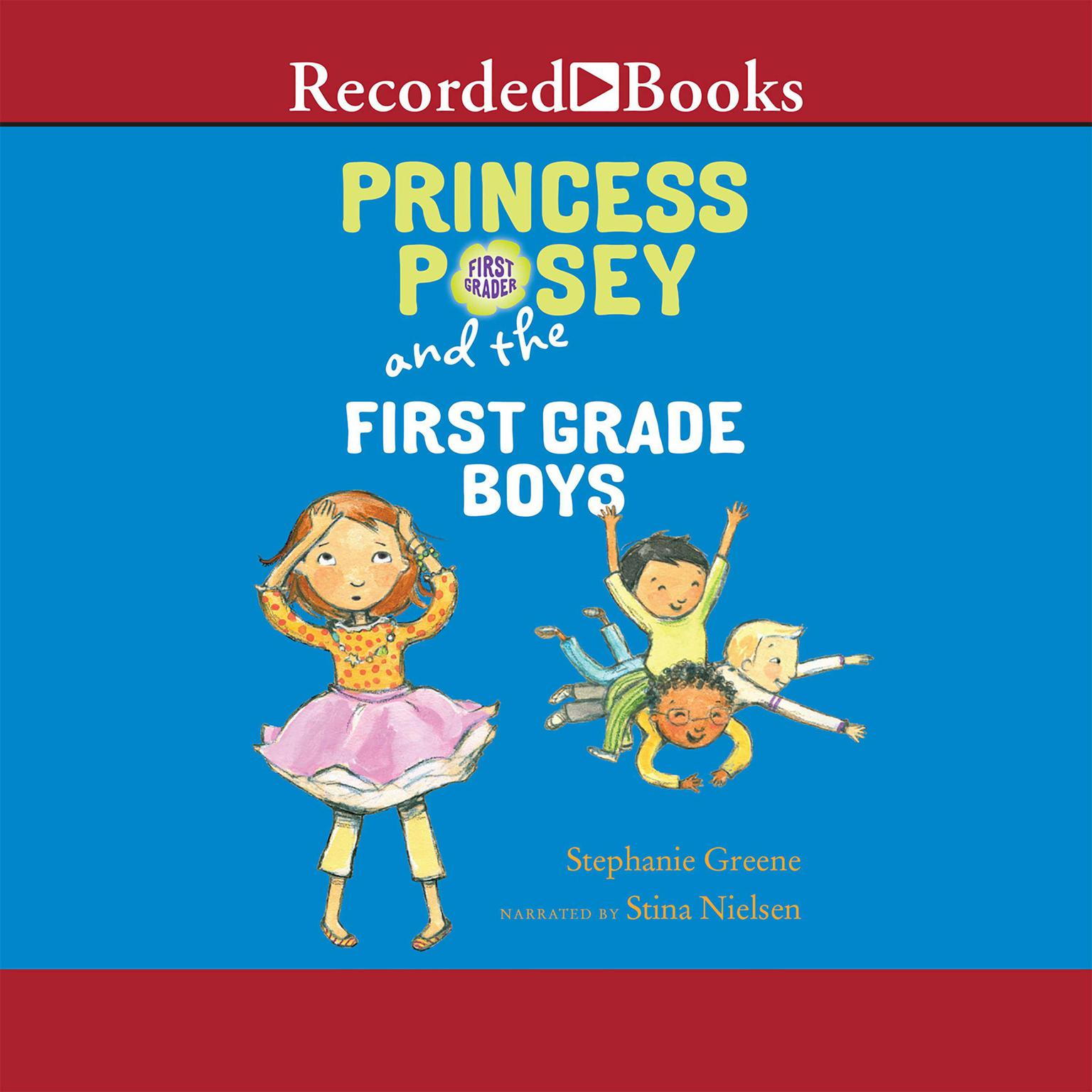 Printable Princess Posey and the First Grade Boys Audiobook Cover Art