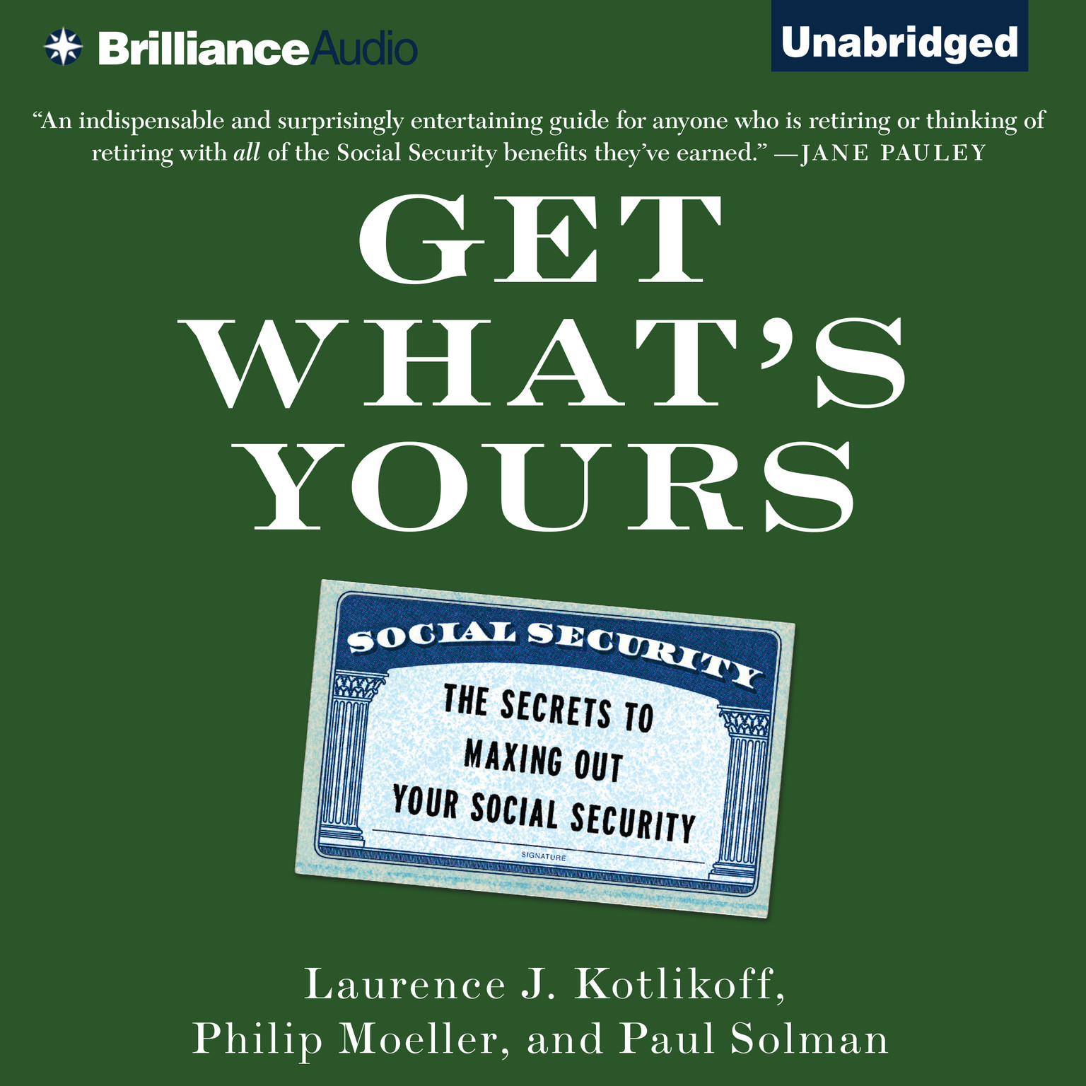 Printable Get What's Yours: The Secrets to Maxing Out Your Social Security Audiobook Cover Art