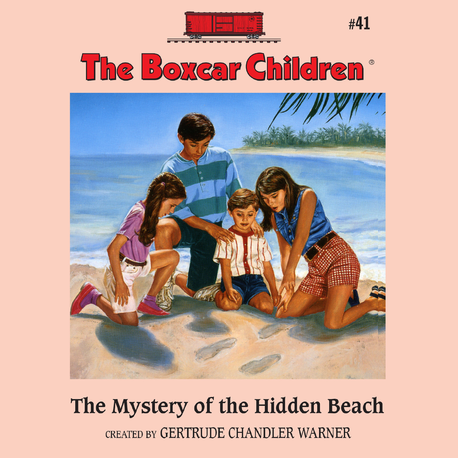Printable The Mystery of the Hidden Beach Audiobook Cover Art