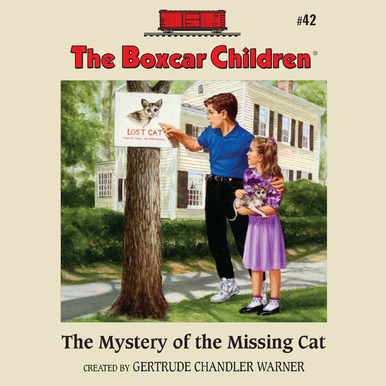 Printable The Mystery of the Missing Cat Audiobook Cover Art