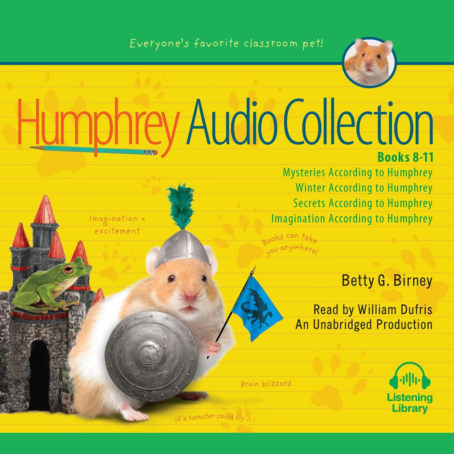 Printable The Humphrey Audio Collection, Books 8-11: Mysteries According to Humphrey; Winter According to Humphrey; Secrets According to Humphrey; Imagination According to Humphrey Audiobook Cover Art