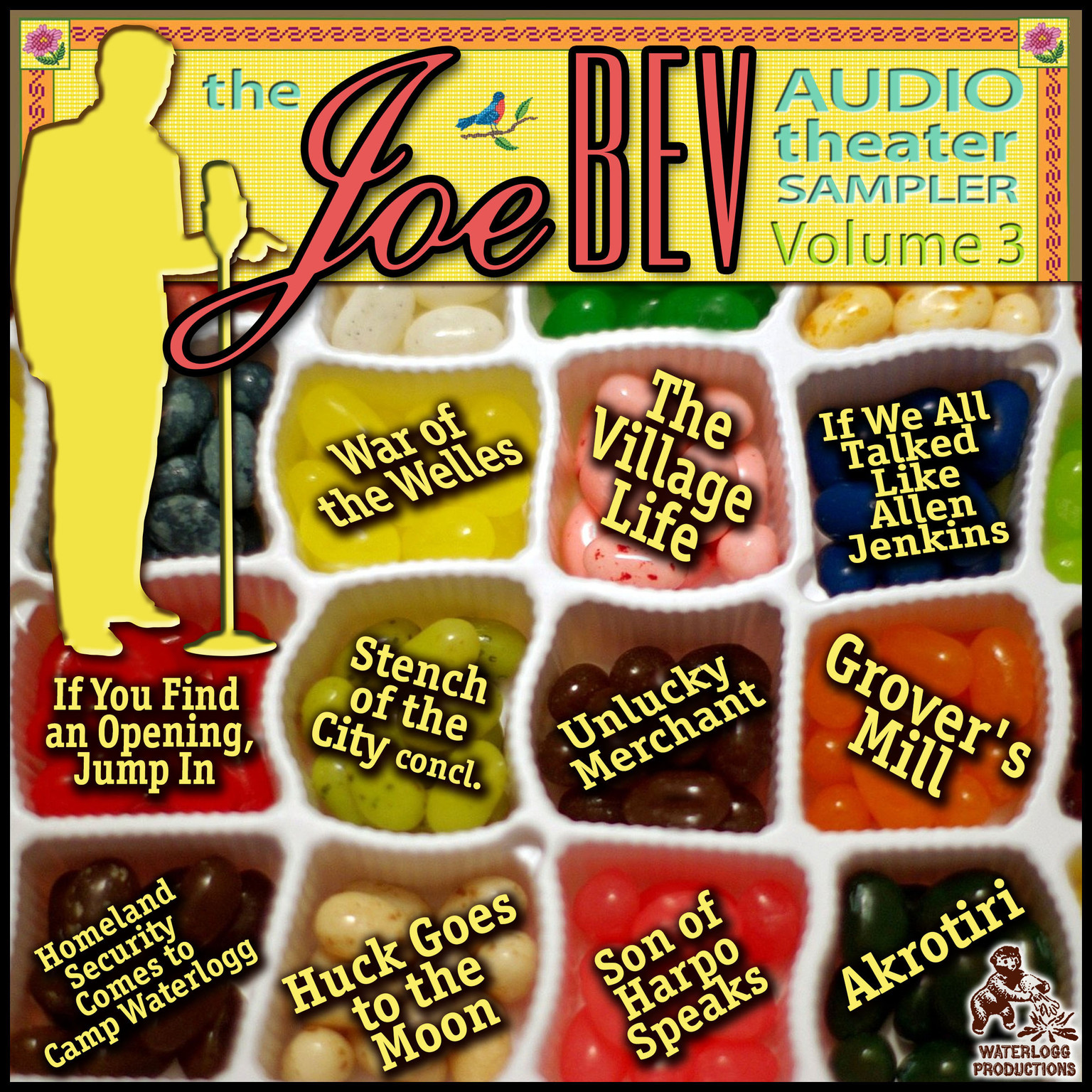 Printable A Joe Bev Audio Theater Sampler, Vol. 3 Audiobook Cover Art