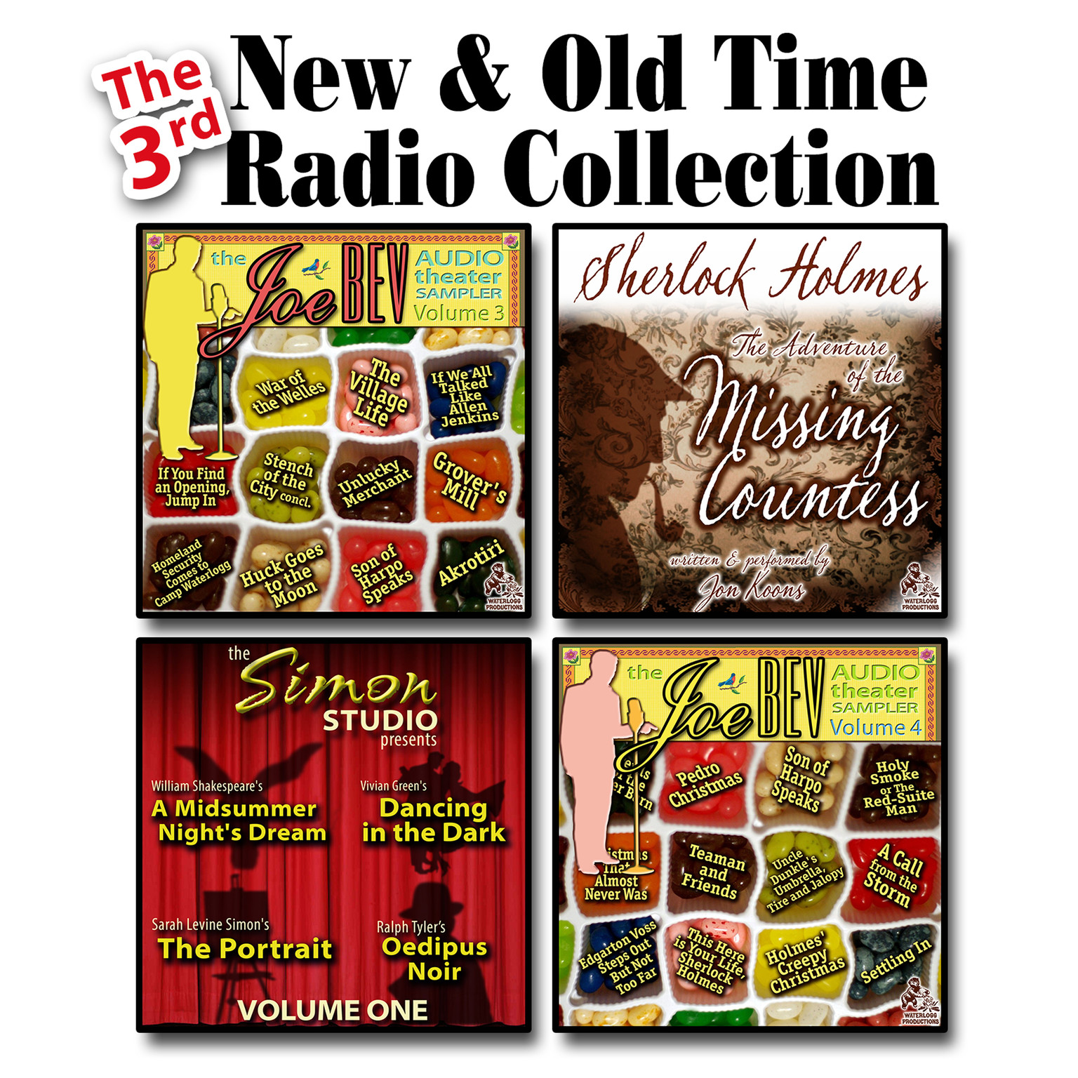 Printable The 3rd New & Old Time Radio Collection Audiobook Cover Art