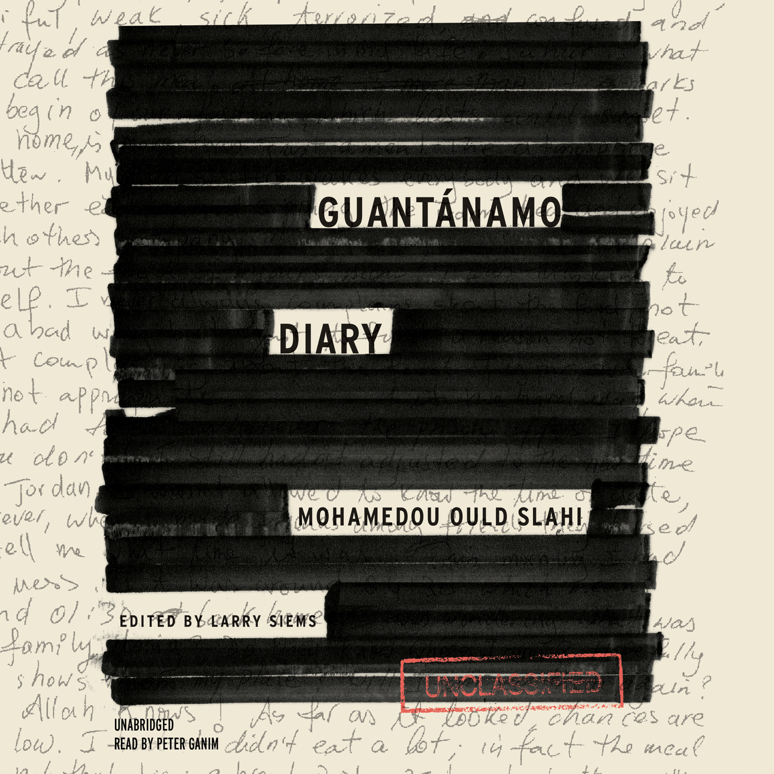 Printable Guantánamo Diary Audiobook Cover Art