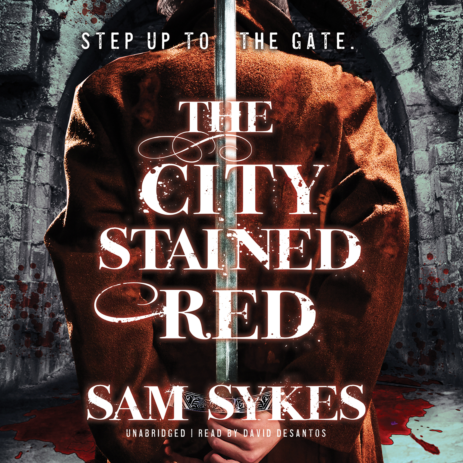 Printable The City Stained Red Audiobook Cover Art
