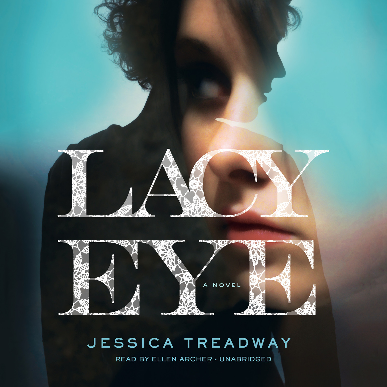 Printable Lacy Eye: A Novel Audiobook Cover Art