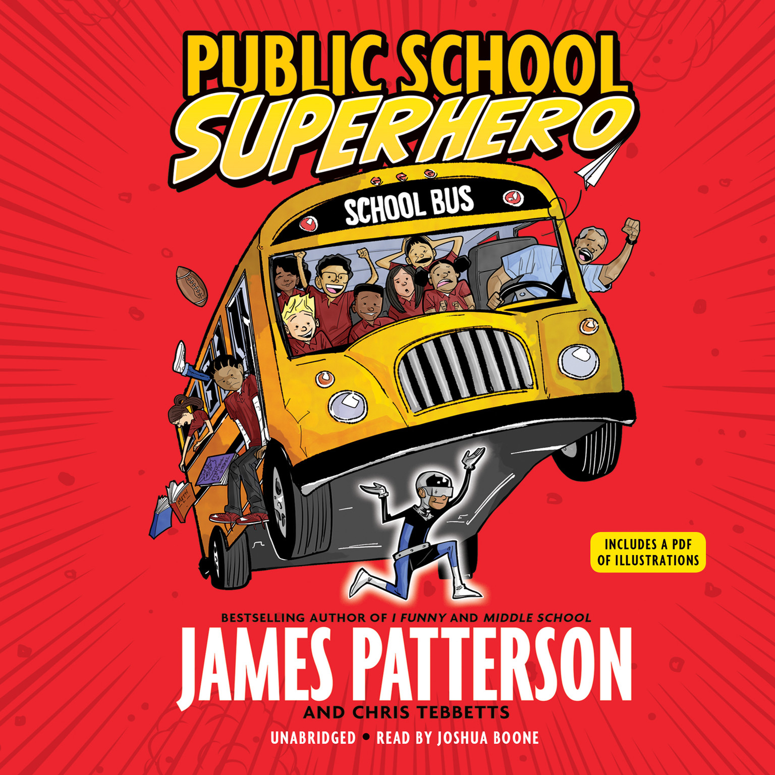 Printable Public School Superhero Audiobook Cover Art