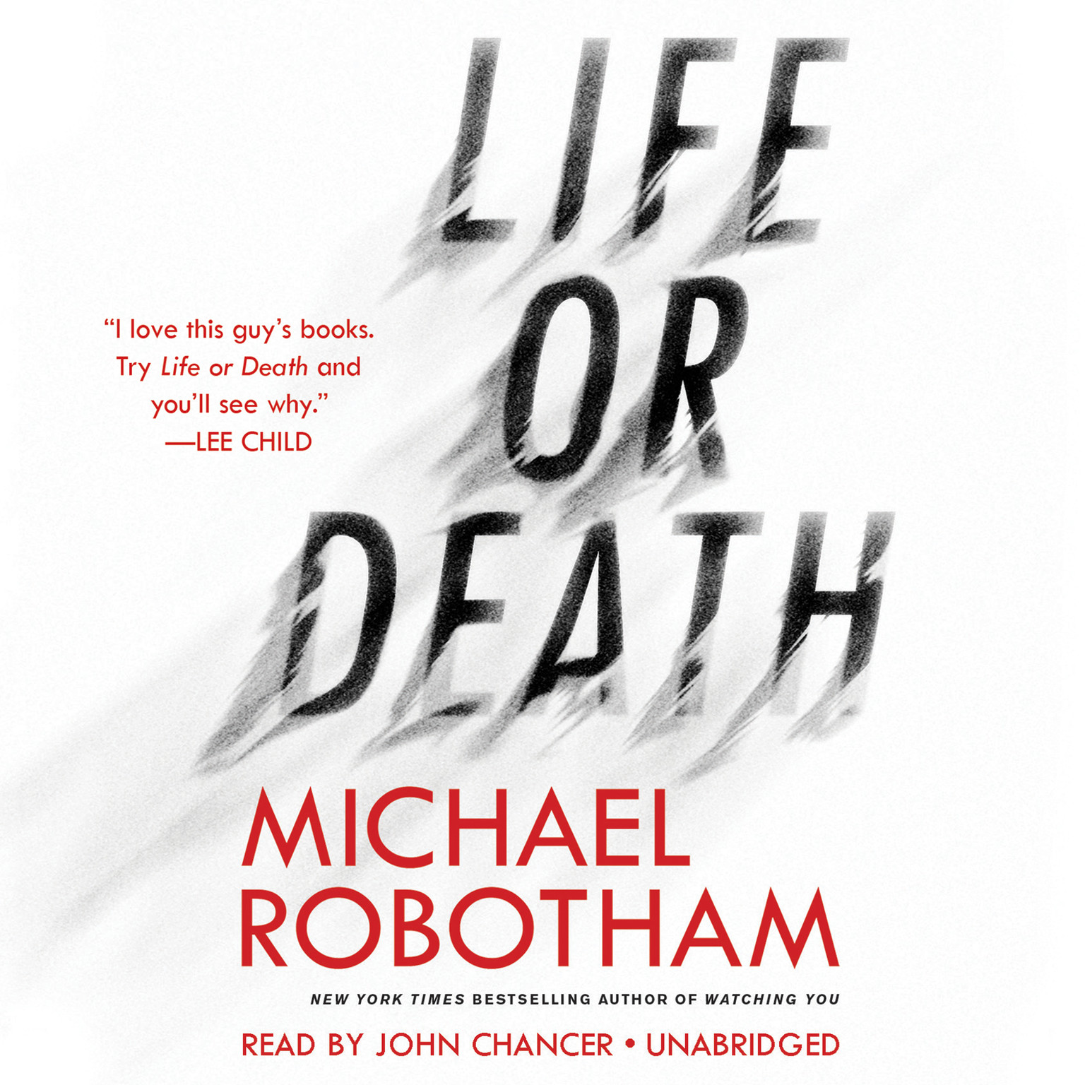 Printable Life or Death Audiobook Cover Art