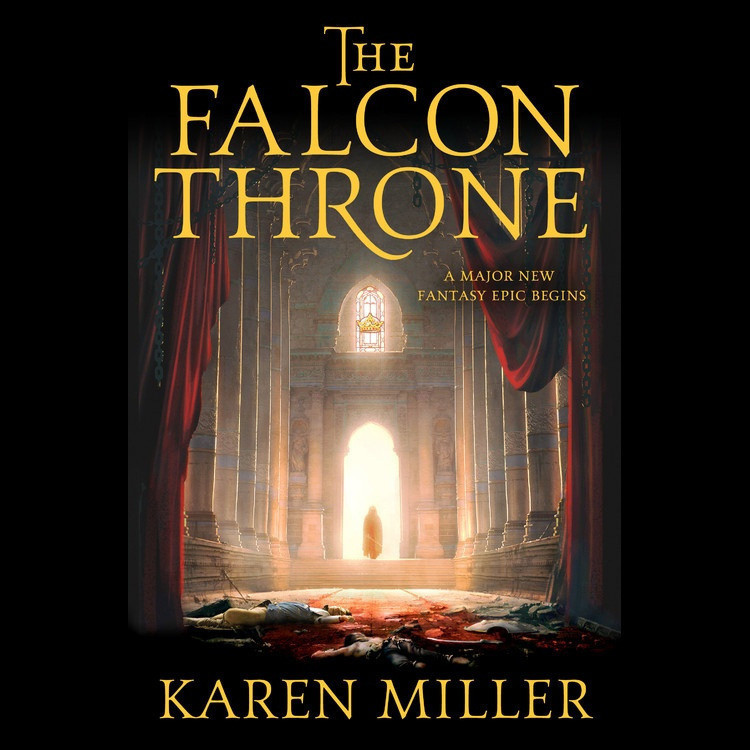 Printable The Falcon Throne: The Tarnished Crown Book One Audiobook Cover Art