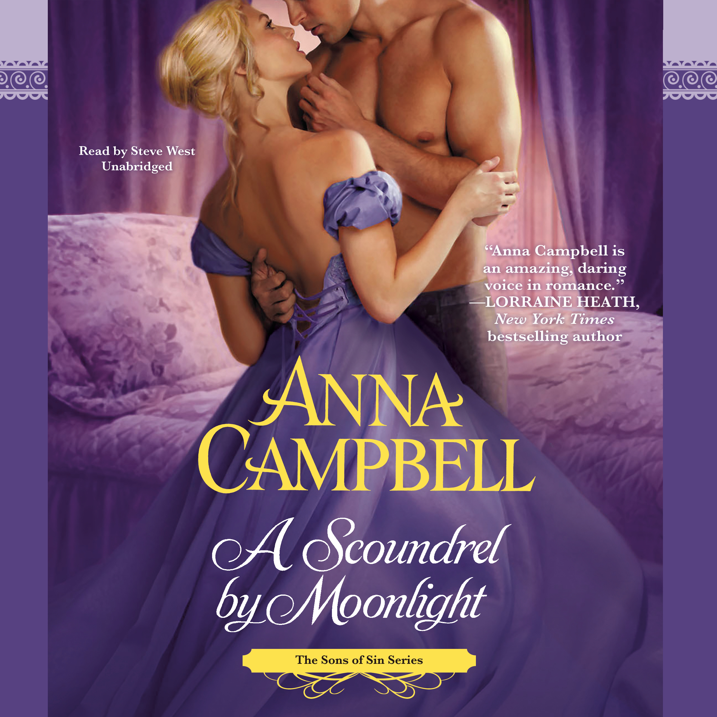 Printable A Scoundrel by Moonlight Audiobook Cover Art