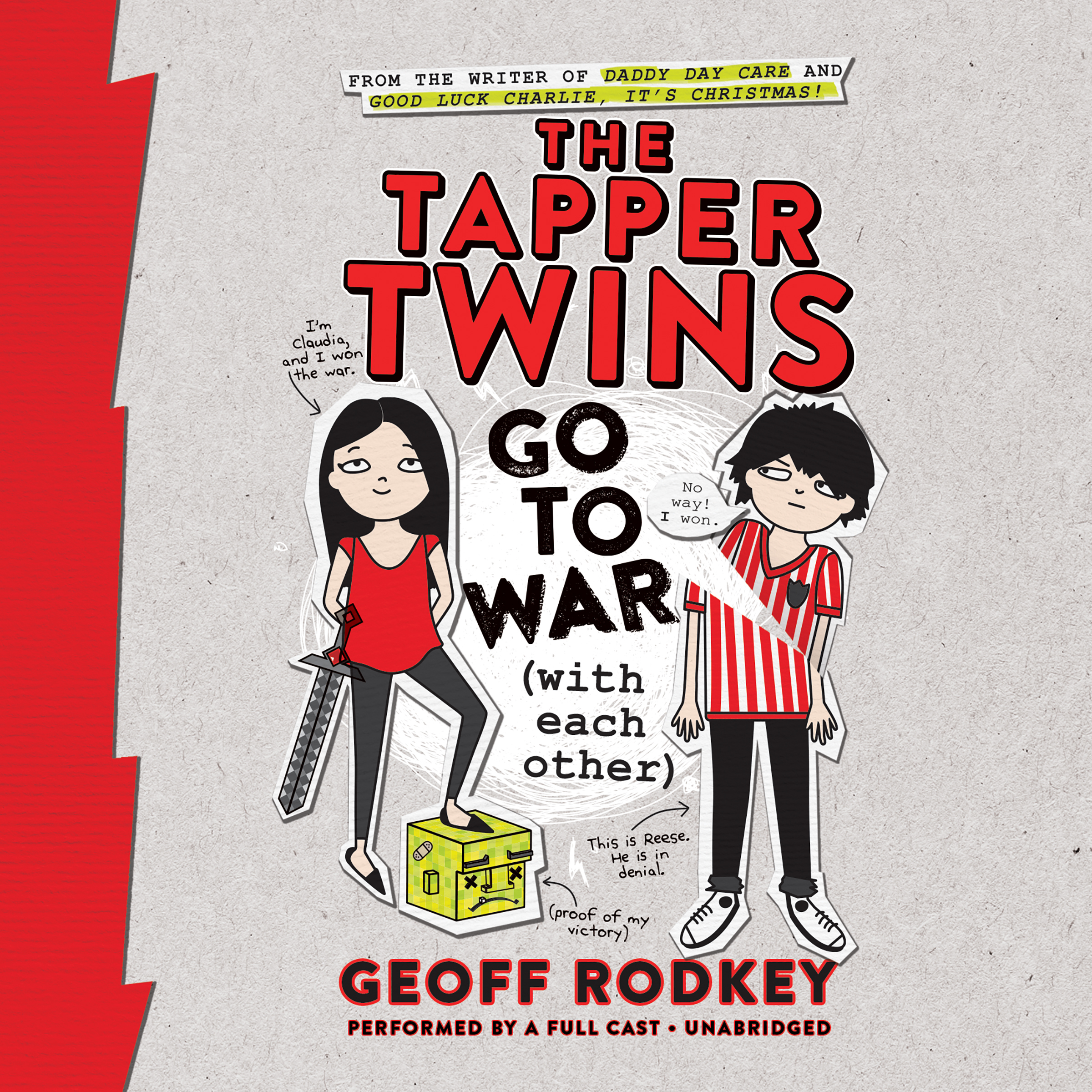 Printable The Tapper Twins Go to War (with Each Other) Audiobook Cover Art