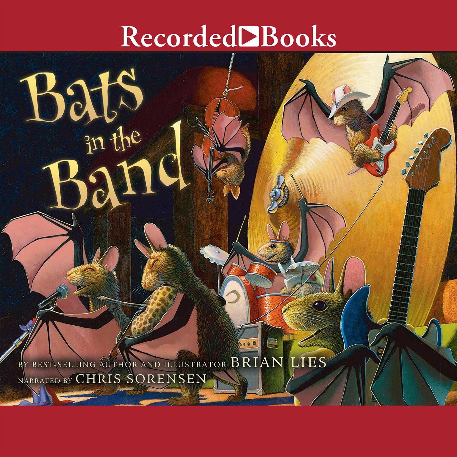 Printable Bats in the Band Audiobook Cover Art