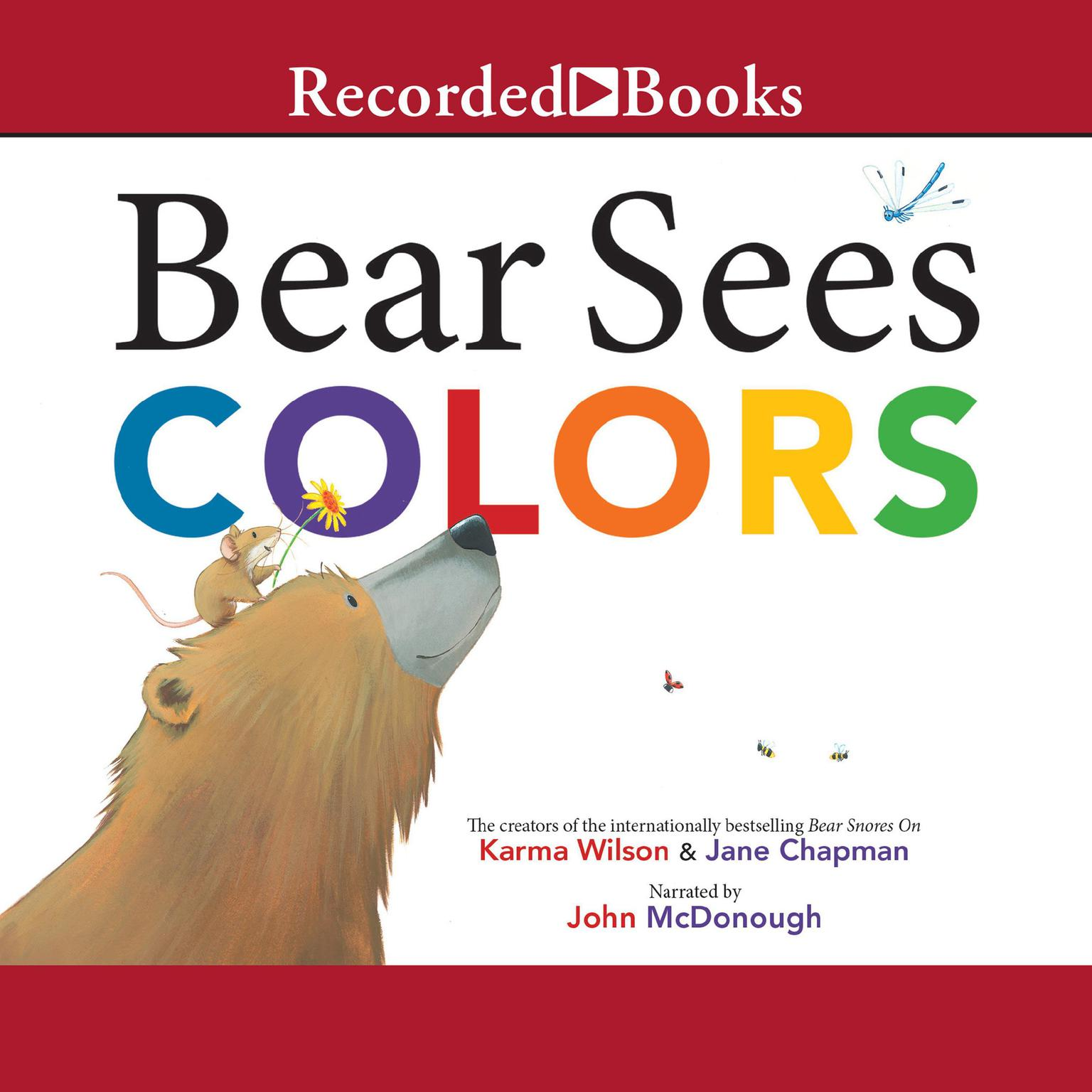 Printable Bear Sees Colors Audiobook Cover Art