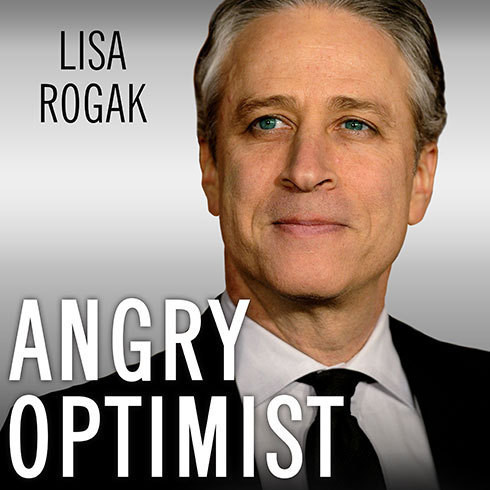 Printable Angry Optimist: The Life and Times of Jon Stewart Audiobook Cover Art