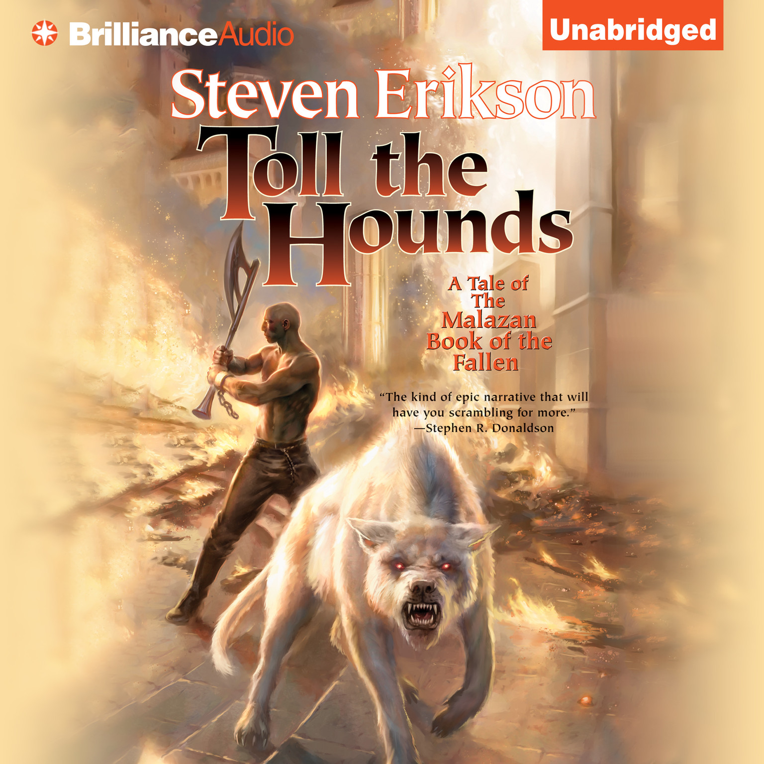 Printable Toll the Hounds Audiobook Cover Art